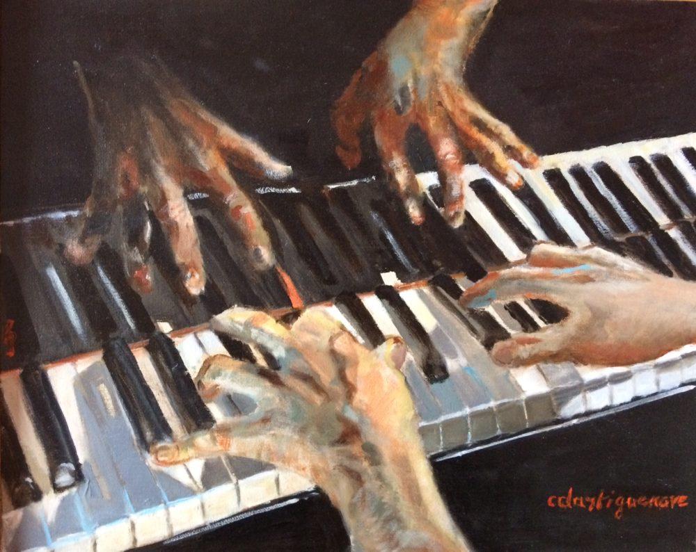 A quatre mains -Catherine Dartiguenave - hst2015 41x33
