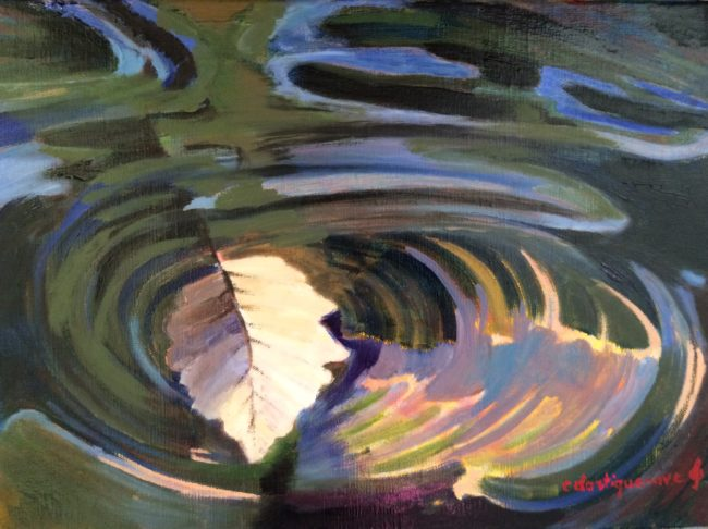 Au fil de l'eau-Catherine Dartiguenave- huile sur toile 2019 30x40