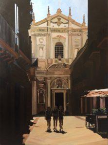 Les trois filles de Lecce-Catherine Dartiguenave- huile sur toile 2019 81x60