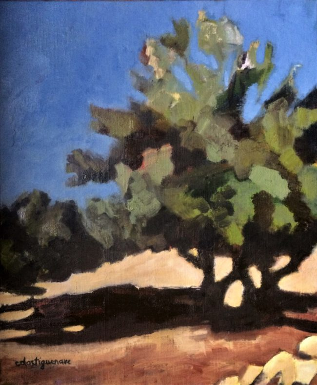 L'olivier -Catherine Dartiguenave- huile sur toile 2019 38x46