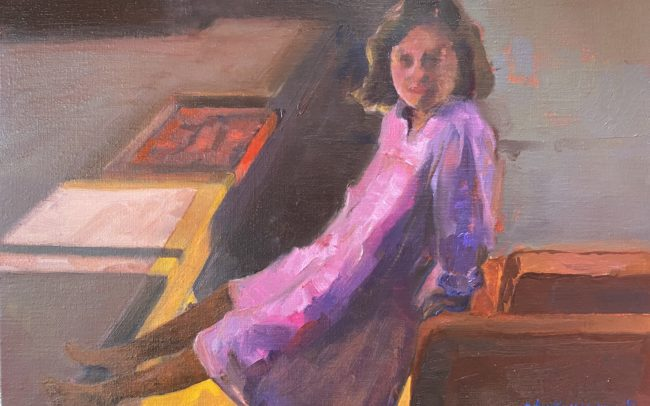 En chemise de nuit-Catherine Dartiguenave- hst2019 33x46