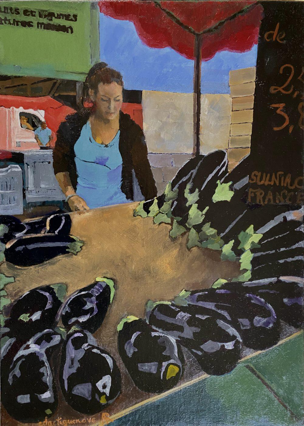 Le prix des aubergines-Catherine Dartiguenave- hst2020 46x33