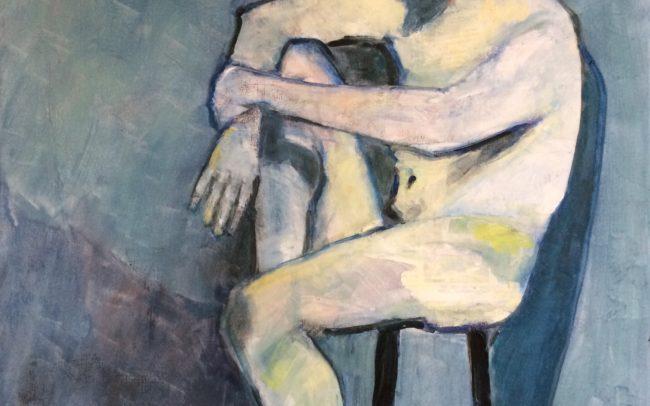 Nu bleu-Catherine Dartiguenave- hst2019 70x50